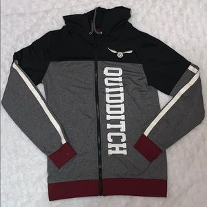 Harry Potter full zip hooded quidditch jacket